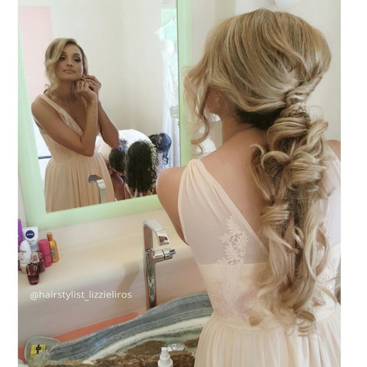 ponytail bridesmaid's hairstyle | my bridesmaids
