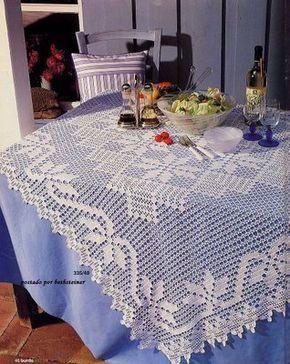 toalha em croche filé