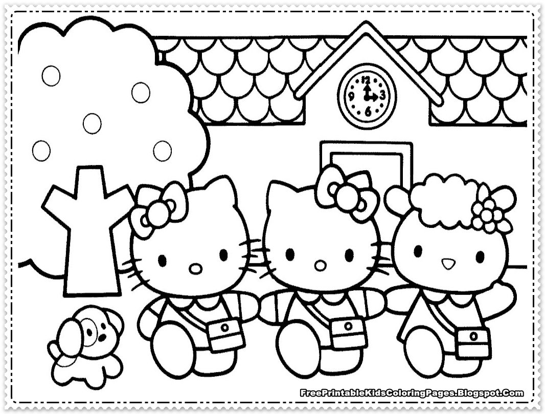 Hello Kitty Malvorlagen für Kinder #hello #kinder #kitty ...
