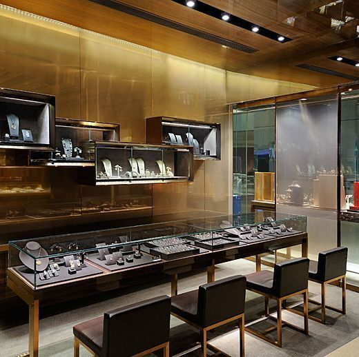 Pin by Toiwan Kuok on store display in 2019  Store interiors Jewelry store design Jewellery