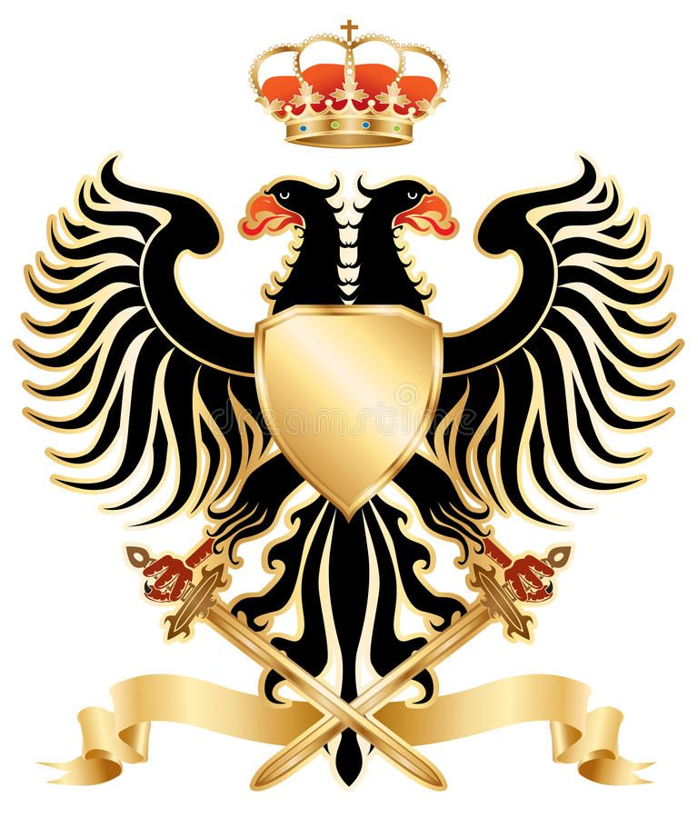 Doubleheaded eagle color. Doubleheaded eagle with crown