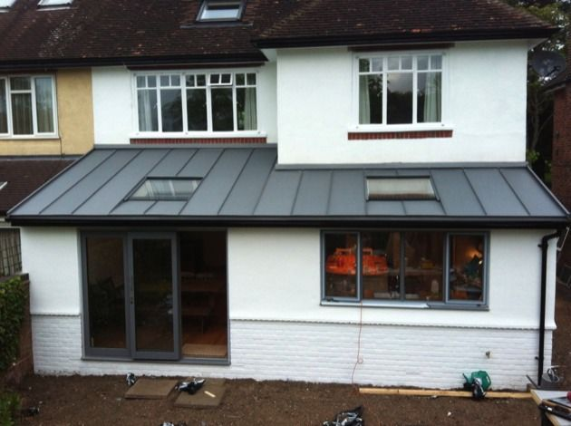 Photo Intro Flat Roof Extension Zinc Roof Roof Window