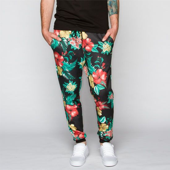 ELWOOD Floral Print Mens Jogger Pants 40 Joggers Gorgeous Mens Patterned Joggers