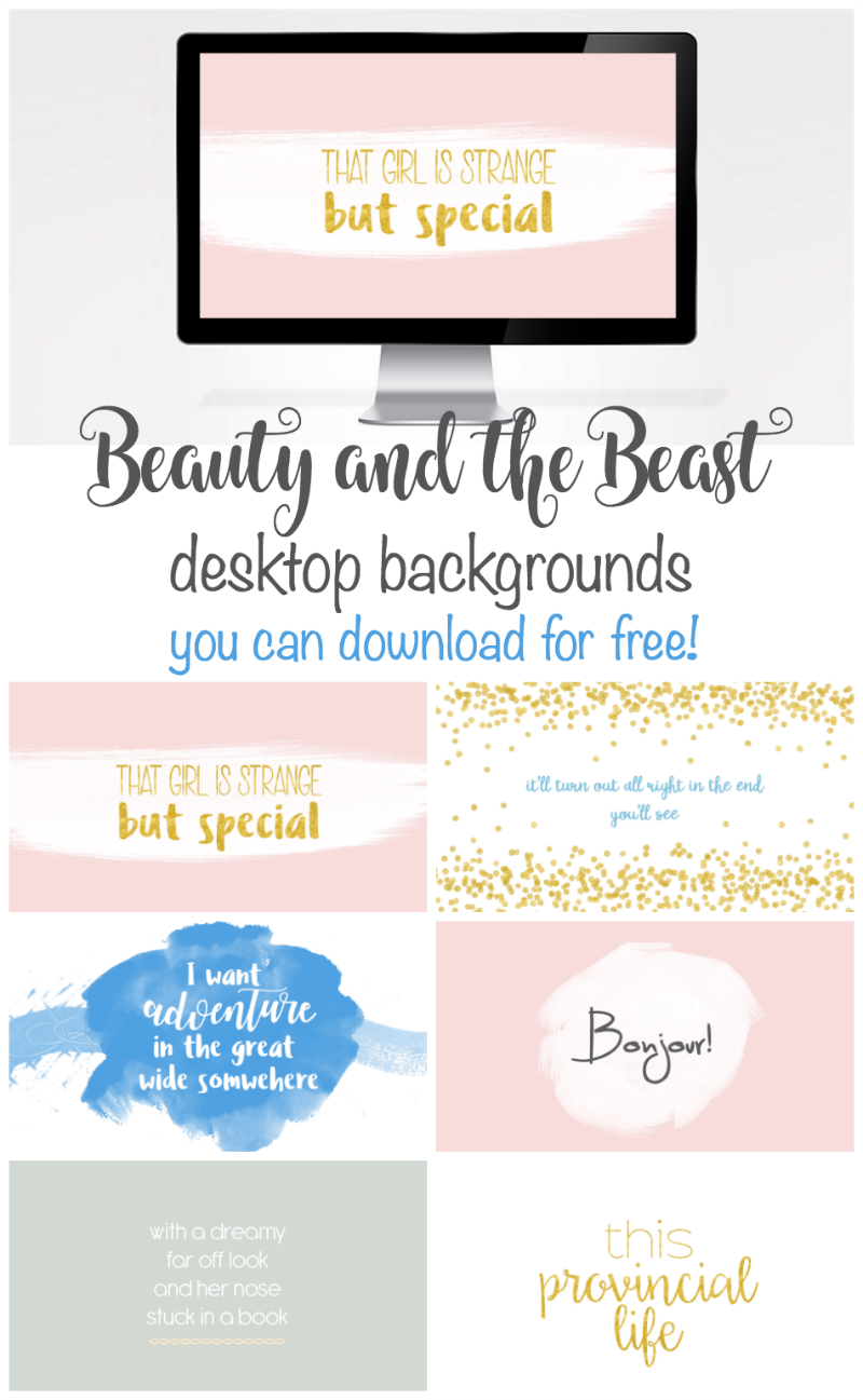 beauty and the beast desktop background wallpapers. download for