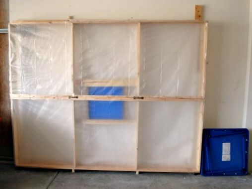 Diy Fold Up Paint Booth Tutorial With Images Spray Paint Booth Portable Paint Booth Paint Booth