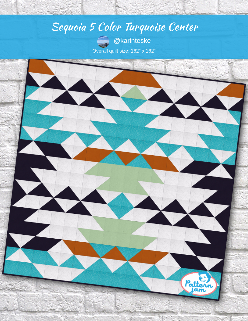 Sequoia 5 Color Turquoise Center Quilting Designs Quilts Custom Quilts