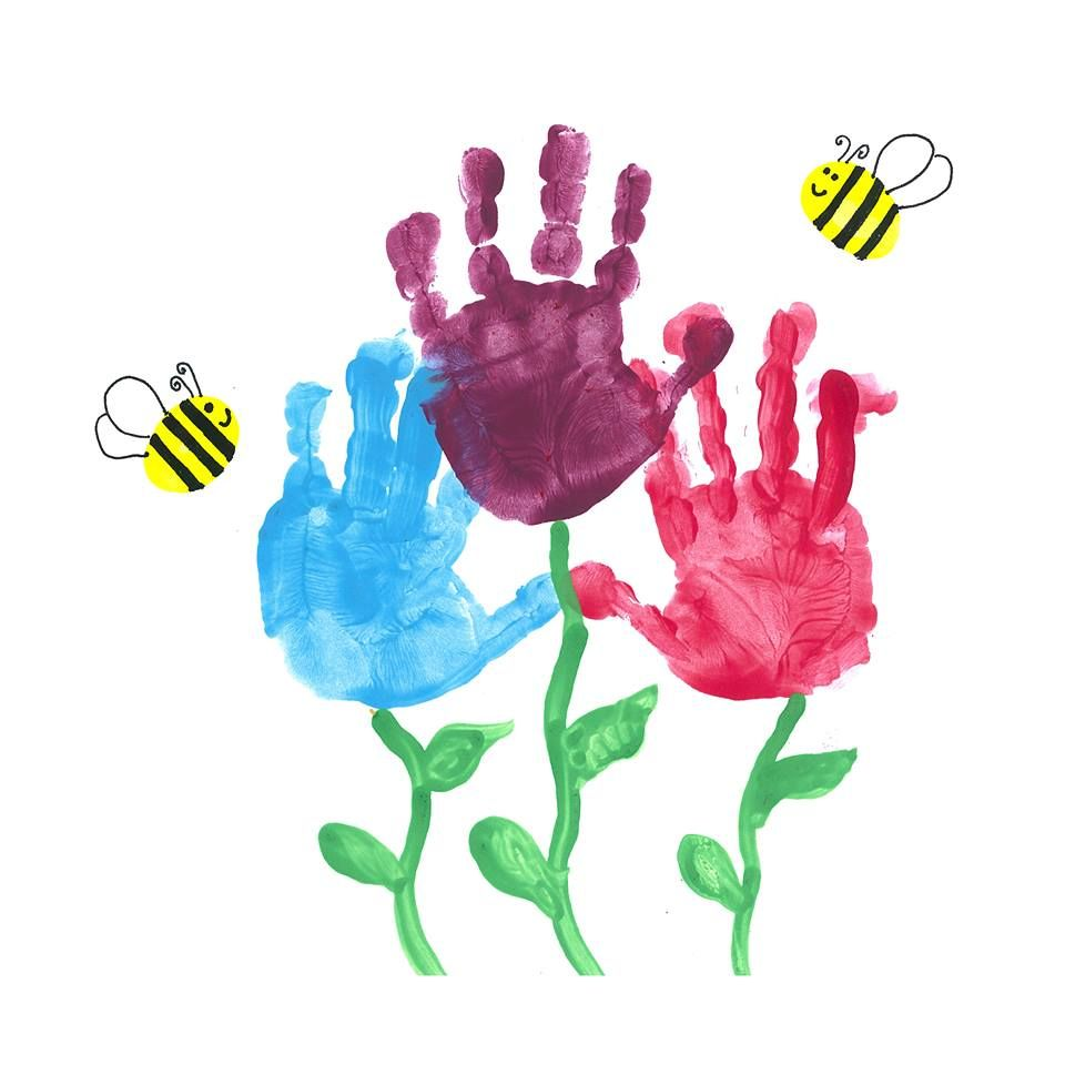 Family handprint flowers!