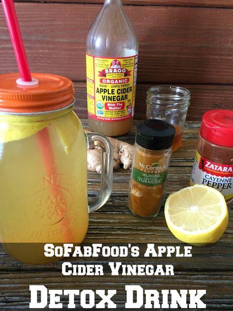 Apple Cider Vinegar And Lemon Detox Drink Recipe Detox Drinks
