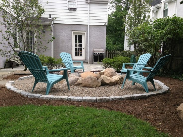 Genial Since We Have Natural Rock, Pebbles Or River Rocks Would Make A Nice  Surround But