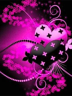Pink And Black Heart Heart Wallpaper Pretty Wallpapers Love Wallpaper