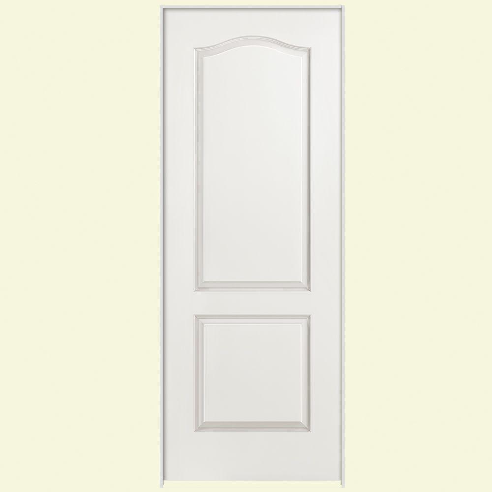Masonite 24 In X 80 In Solidoor Smooth 2 Panel Arch Top Solid Core Primed Composite Single Prehun Prehung Interior Doors Arched Interior Doors Doors Interior