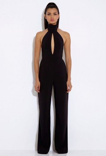 Richie Black Halterneck Jumpsuit