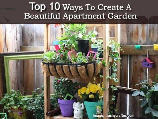 If You Ve Been Longing For A Beautiful Garden But Living In An Apartment Don T Let E Hold Back The Trashycrafter Shares 10 Easy Ways Which