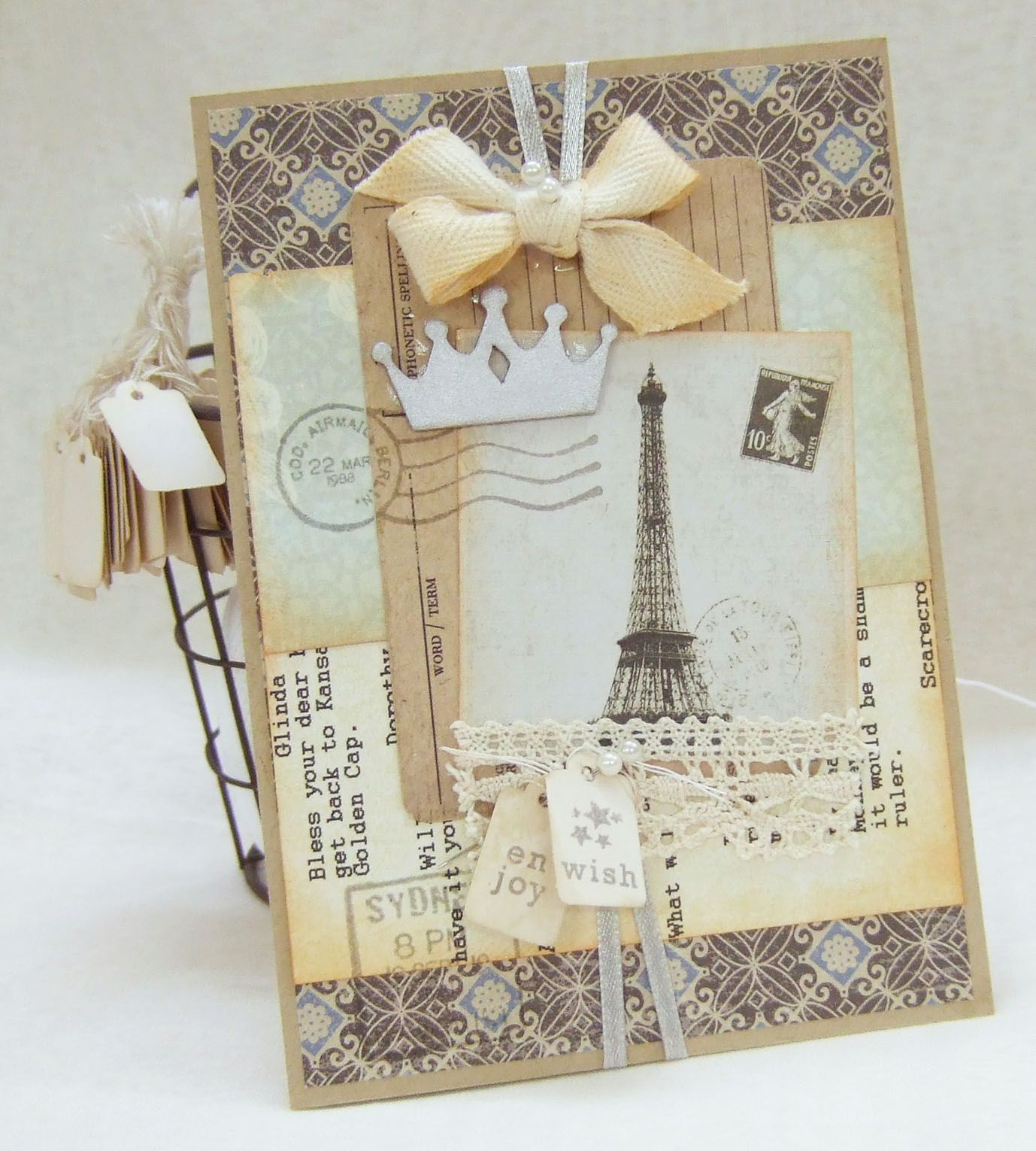 paris and crown card | Cards of Pinterest! | Pinterest | Crown ...
