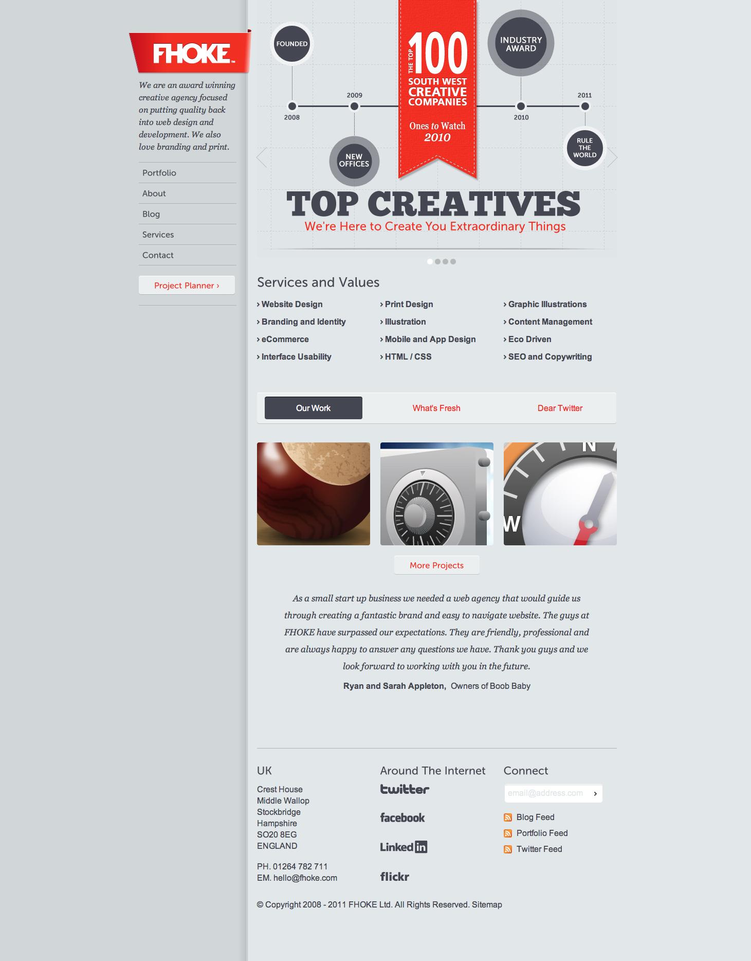 Fhoke Web Design Website Design Design Agency Andover Hampshire Uk Aw Web Design Blog Branding Website Design