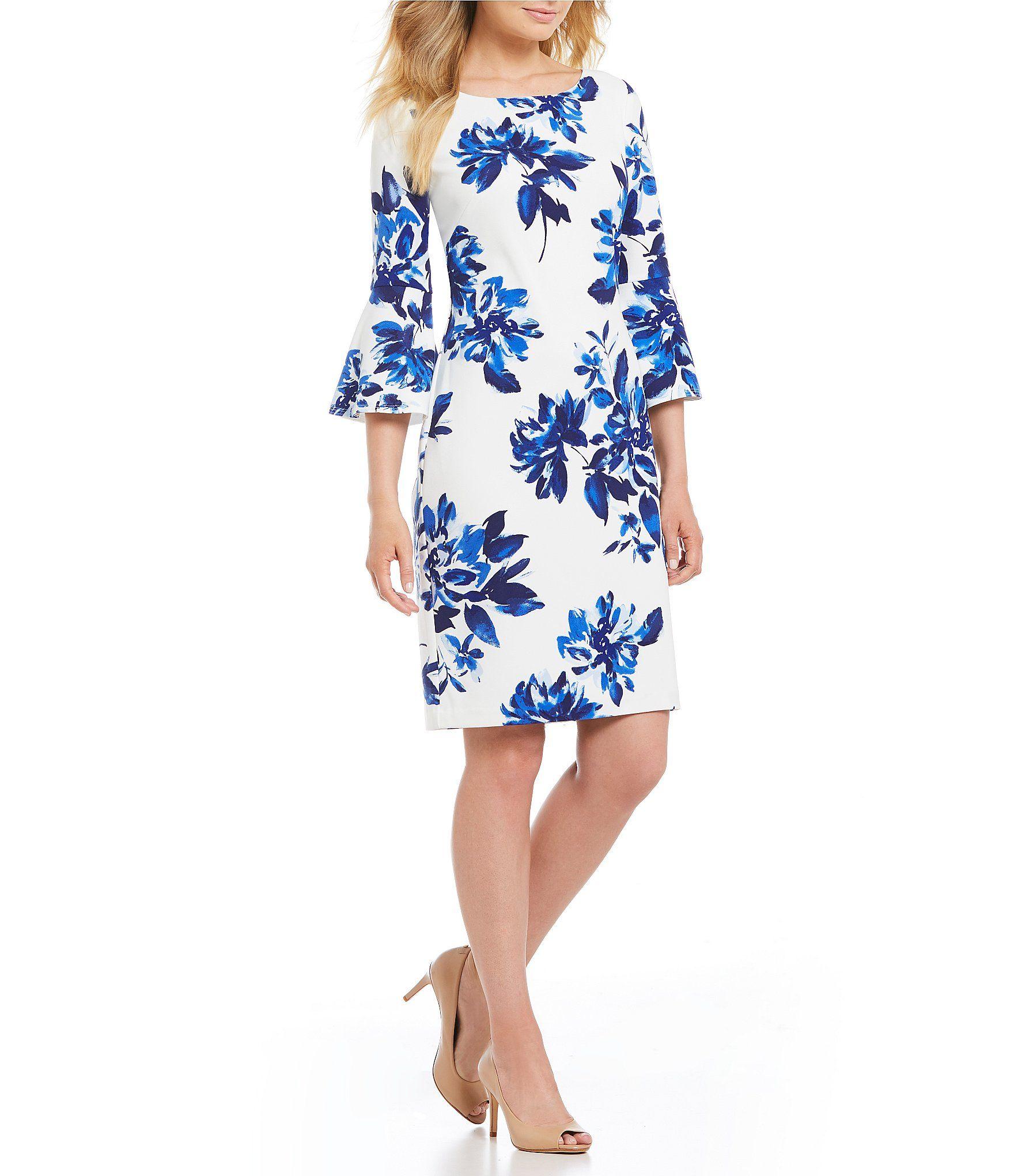 c2c21a64b3 Jessica Howard Petite Bell Sleeve Floral Dress  Dillards ...