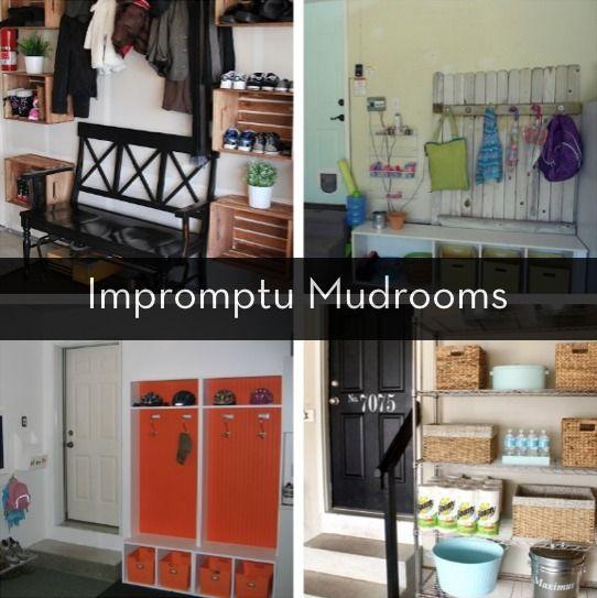 Roundup: 6 Inspiring Impromptu Garage Mudrooms | Mudroom, Diy ...