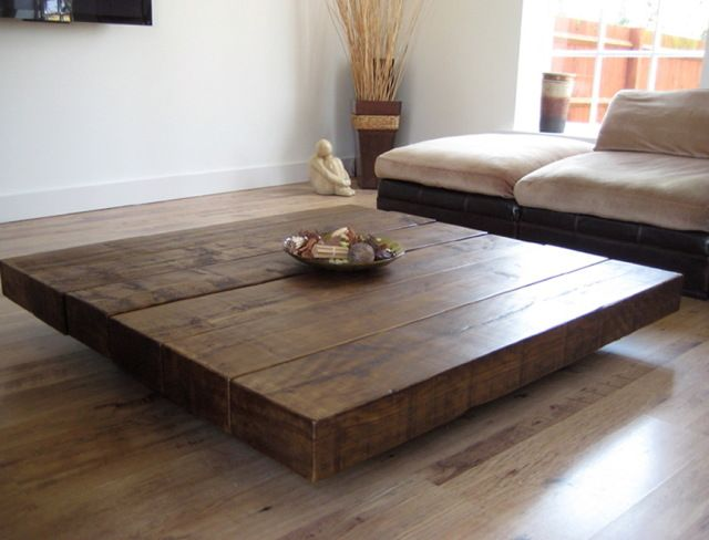 Coffee Tables Design, Large Size Square Dark Wood Coffee