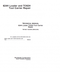 Repair manual john deere 624h loader tc62h tool carrier repair this pdf technical manual includes repair and service instructions information about repair procedures schematics and circuits for loaders john deere fandeluxe Choice Image