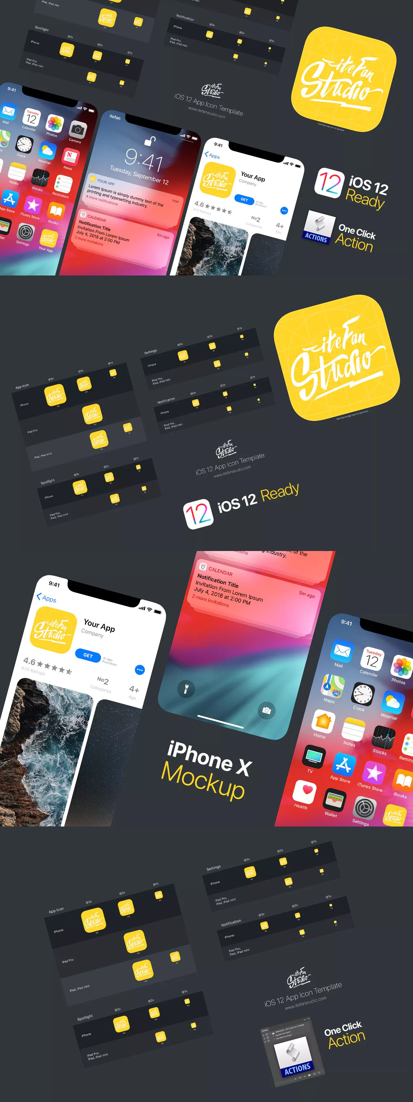 App Store Icon Template Psd {Canarias Deportiva}
