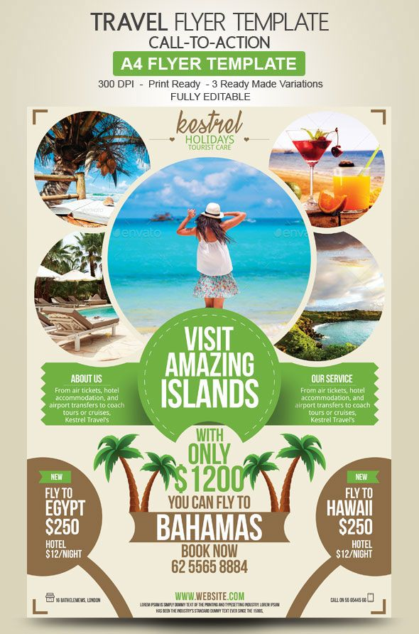 Travel Agency Flyer Design  Travel And Photography