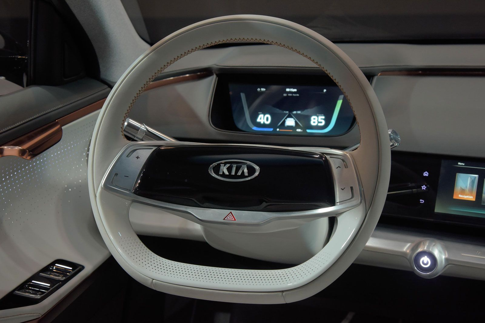 Kia Niro Ev Concept Interior Steering Wheel In 2020 Concept Cars Concept Car Interior Concept Cars Vintage