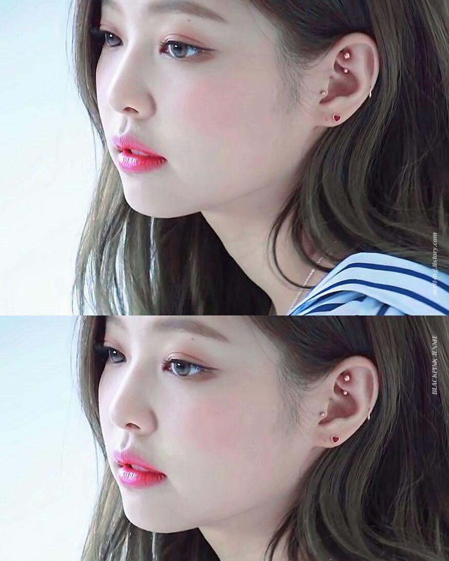 Nose piercing day 3  Pin by jennie park  on kpop  Pinterest  Blackpink Kpop