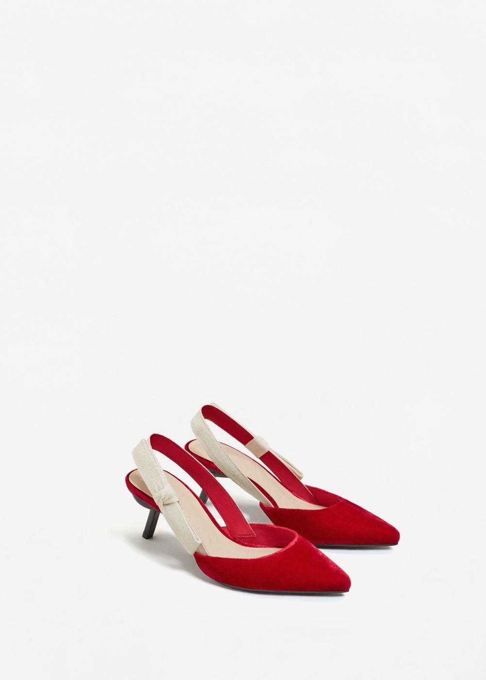 Velvet slingback shoes Women in 2019 | Slingback shoes