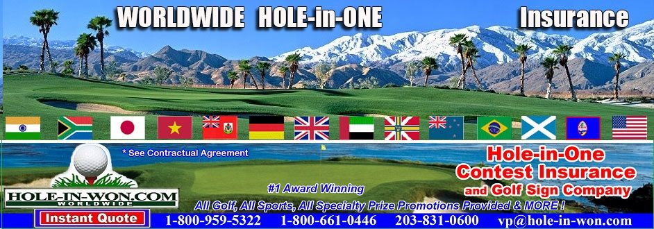 Www Hole In Won Com Is The 1 Hole In One Insurance Company