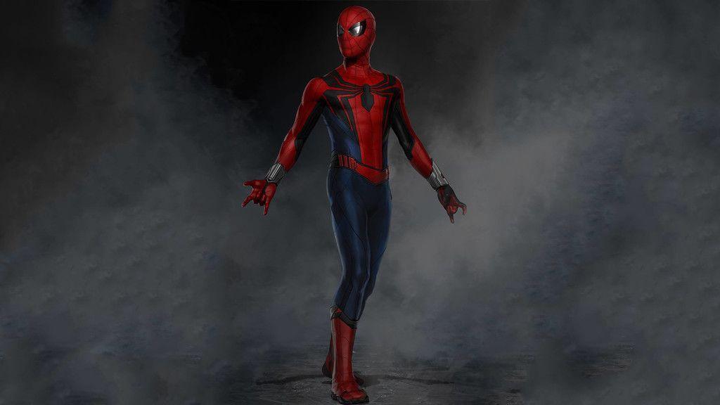Spider Man Iron Suit Artwork Wallpaper Spider Man Wallpapers