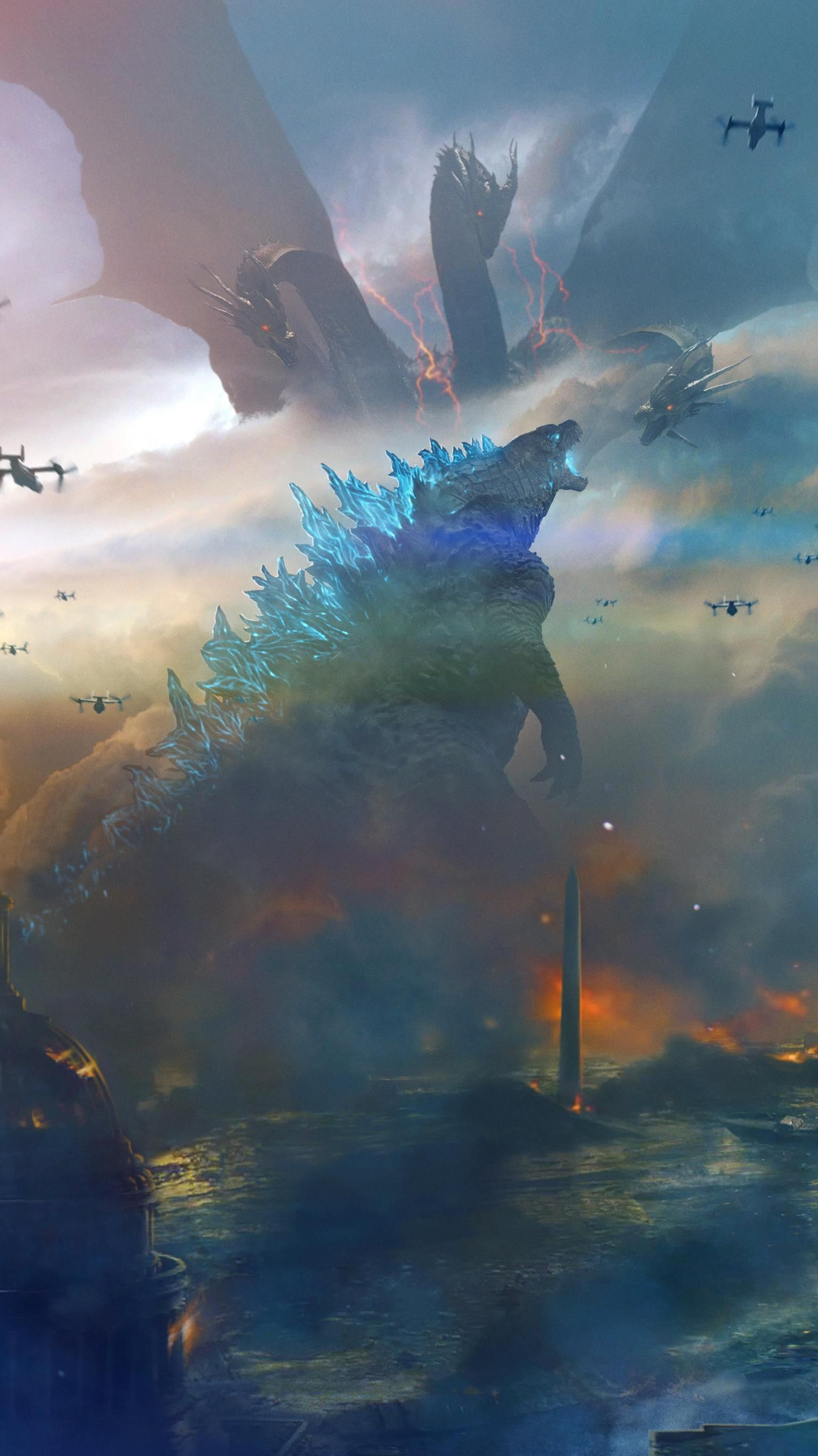 Godzilla King Of The Monsters 2019 Phone Wallpaper In 2020