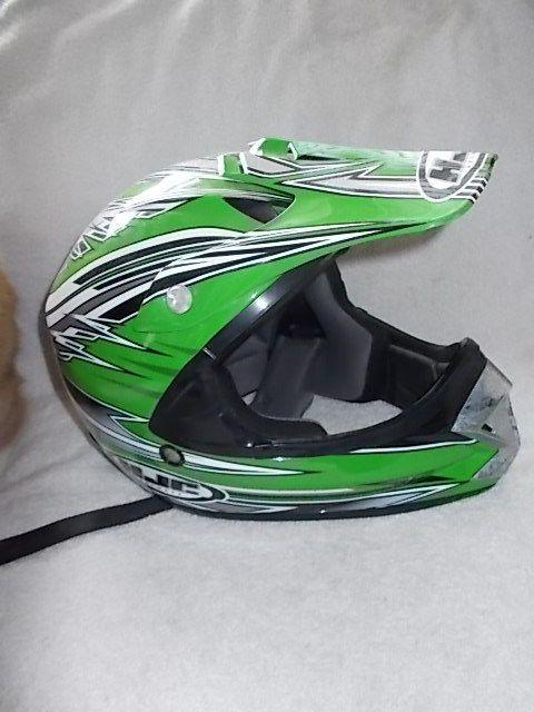 Hjc Helmets Youth Size Large Green Black Atv Motorcross Off Road Helmet Cl X5y Hjchelmets Motorcross Hjc Helmets Helmet Off Road Helmets