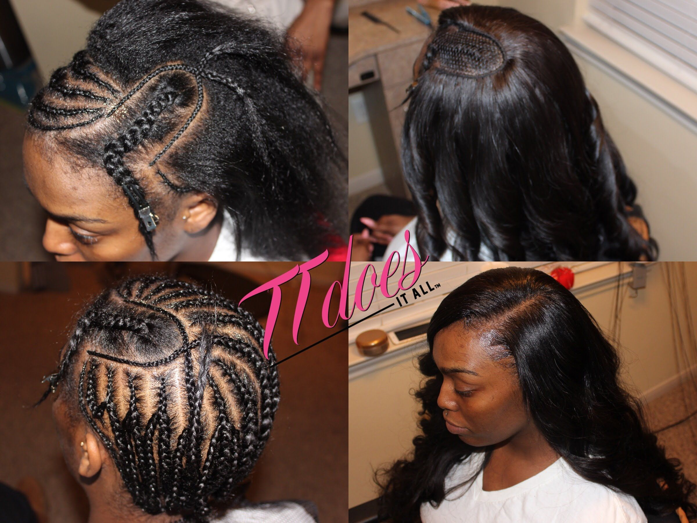 Middle Part Sew In Braid Pattern New Decorating