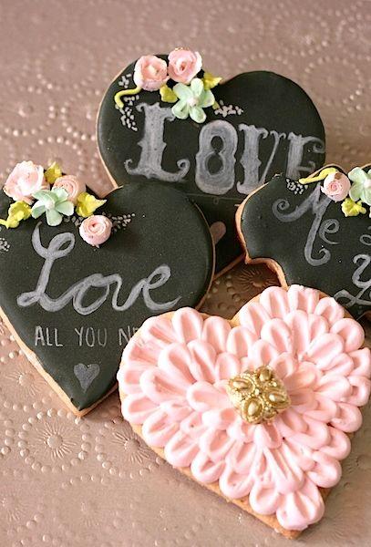 Galletas Decoradas De San Valentín Heart Love Cookies