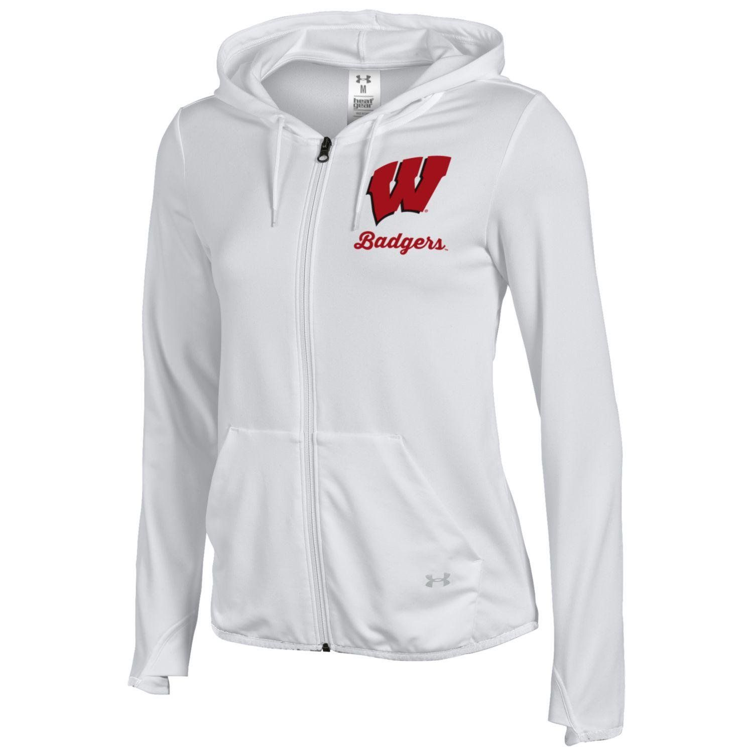 7b33398f7 Under Armour NCAA Wisconsin Badgers Womens FullZip Hoodie Medium White --  Find out more about