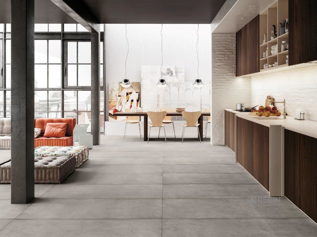 Tiles That Look Like Concrete Modern House