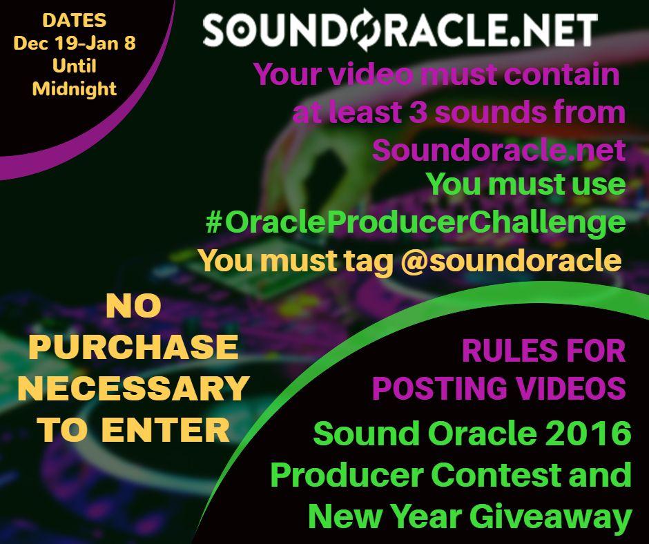 Rules for posting videos #OracleProducerChallenge  Register here: https://goo.gl/XmJmEK