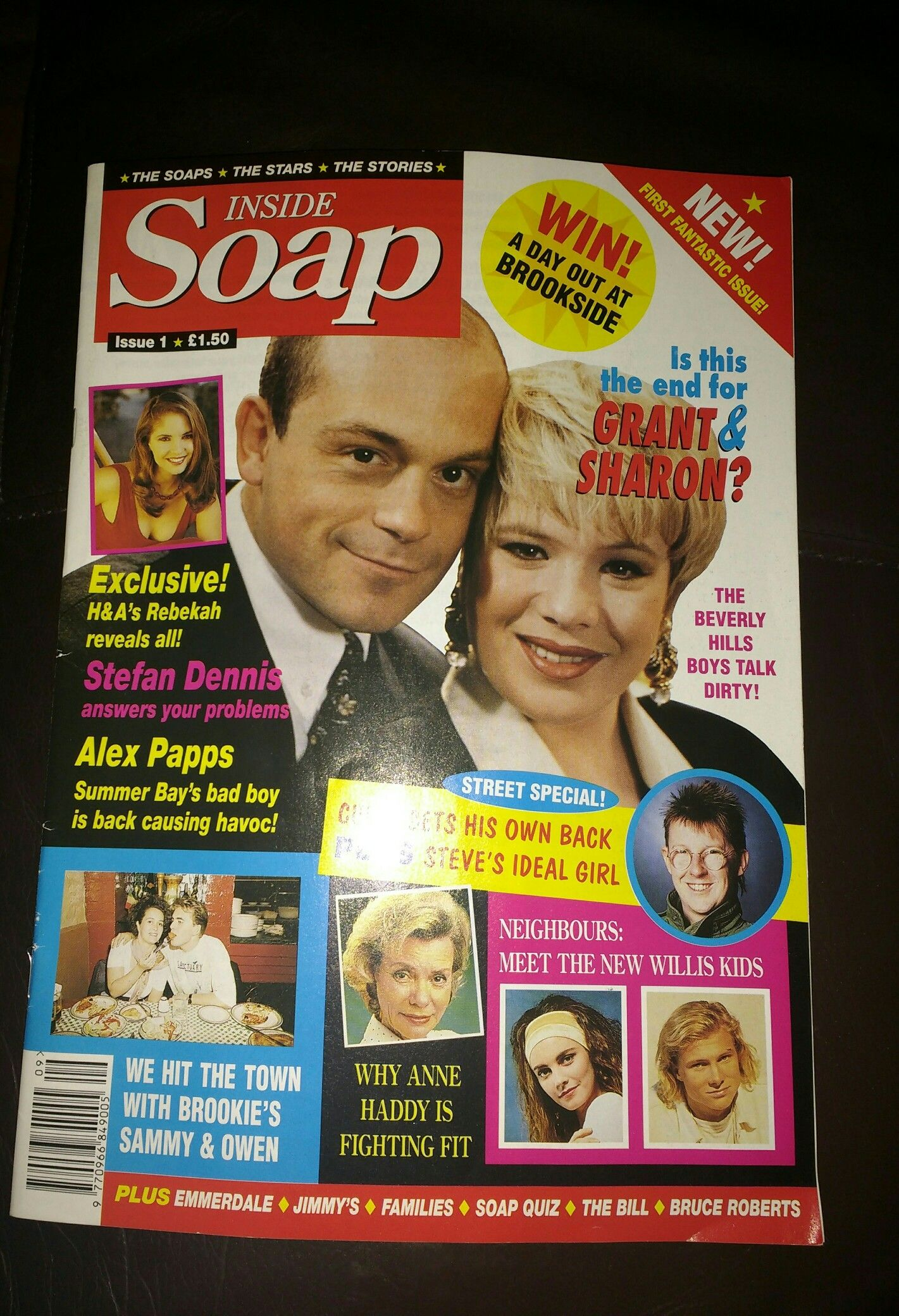 The very first ever Inside Soap magazine.