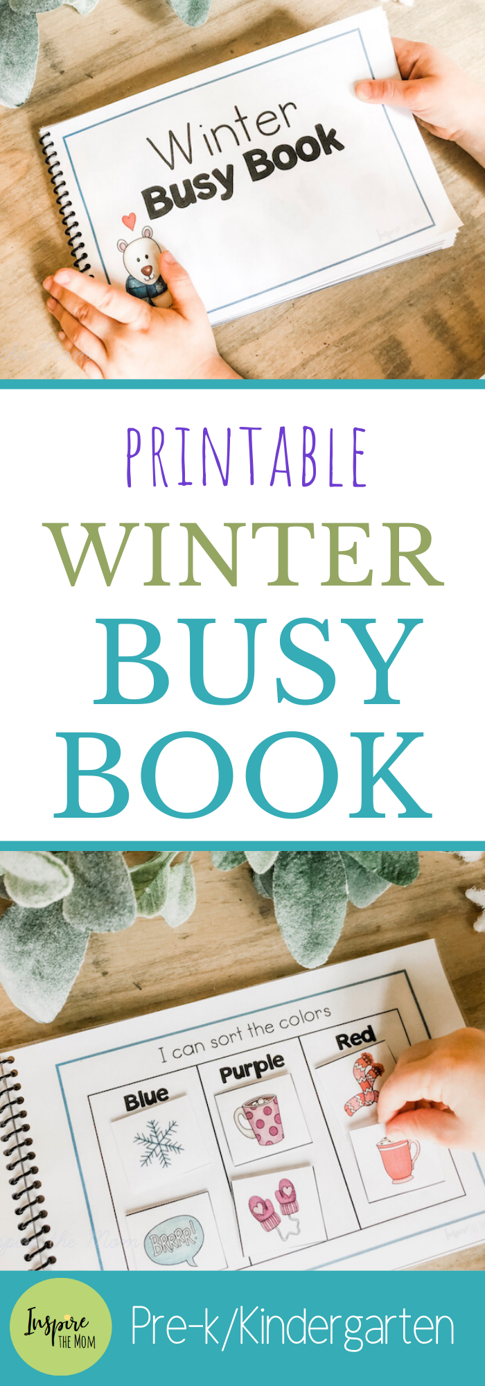 Printable Winter Busy Book - Inspire the Mom Fun, Printable Winter Busy Book for preschool or kinde