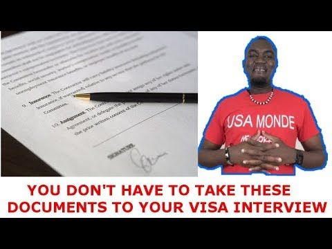 IMPORTANT DOCUMENTS YOU DON'T HAVE TO TAKE TO IMMIGRANT VISA INTERVIEW