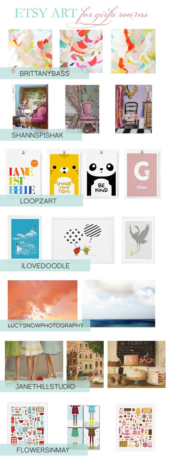 Home daycare design-ideen etsy art for girlsu rooms  home decor  pinterest