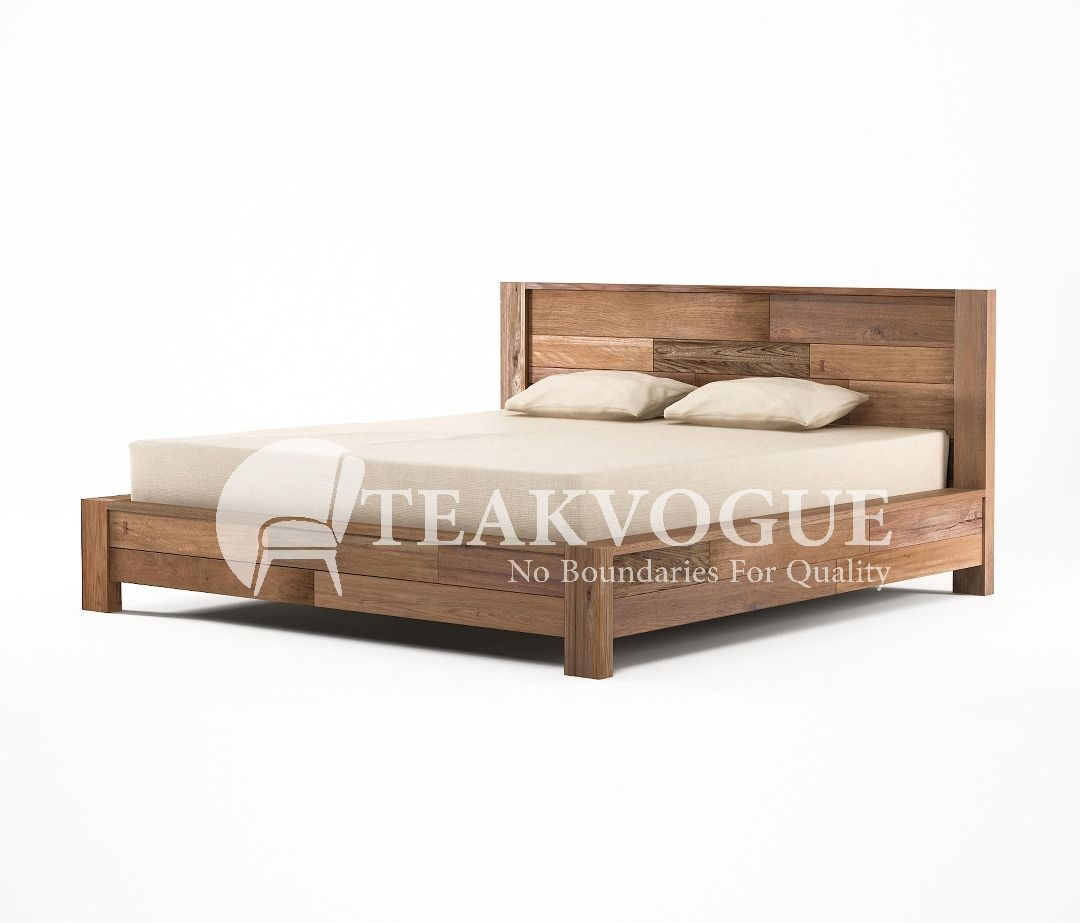 Shandur King Size Bed Teak Wood Bed Frames Malaysia Solid Wood