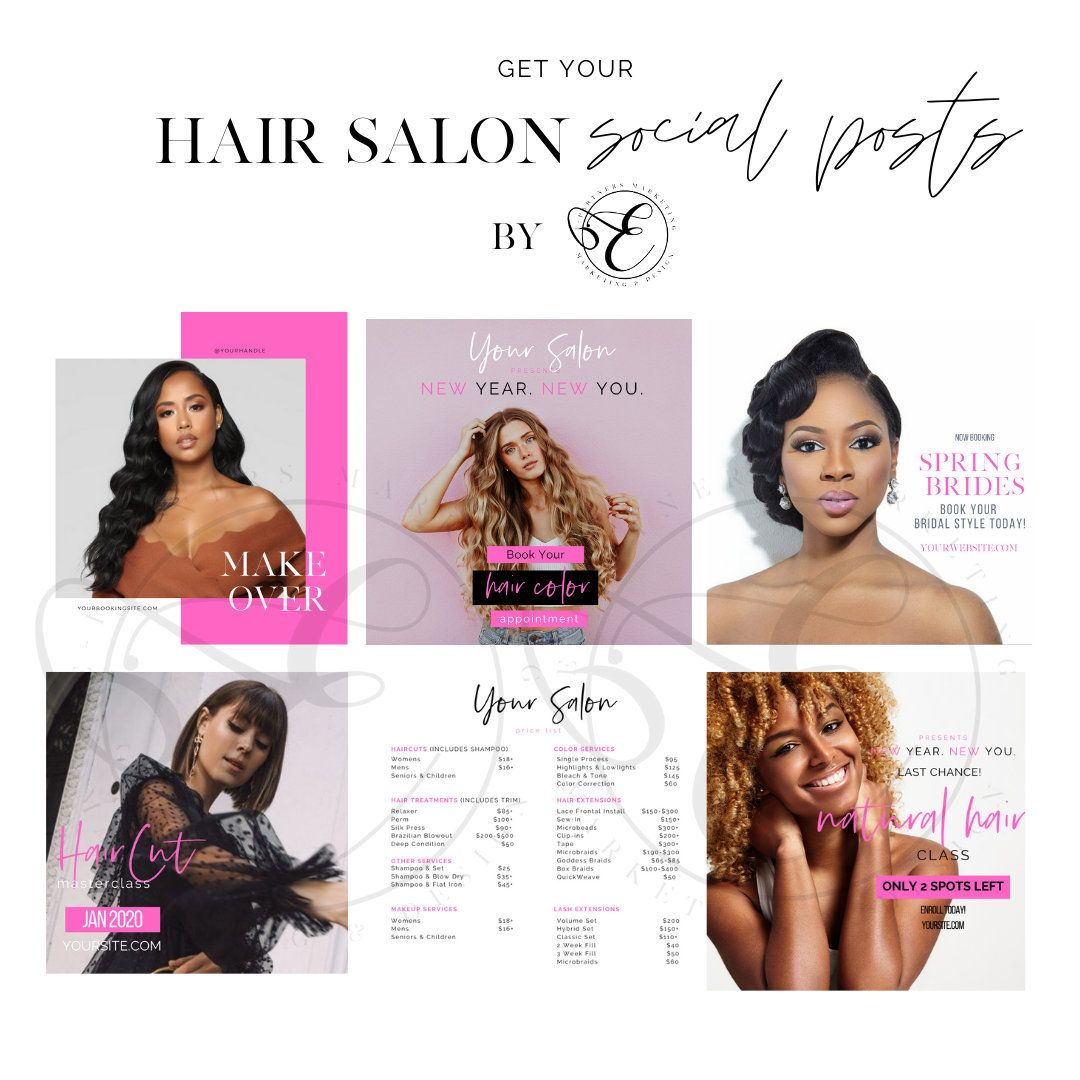 Hair Salon Social Media Posts Instagram Posts Instagram  Etsy in