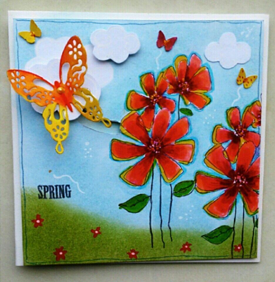Schuifkaart vlinder