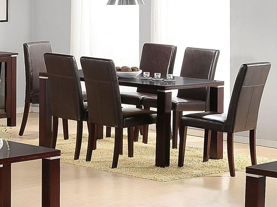 Nice Amazing Dining Table And 6 Chairs Wooden Frame Black Color Simple Cheap Dining Room Chairs Set Of 6 Design Decoration