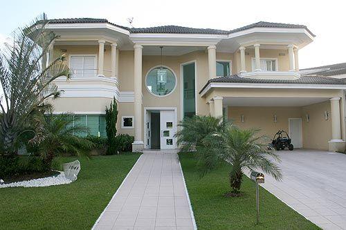 De lindas casa com jardim casas for 30 fachadas de casas modernas dos sonhos