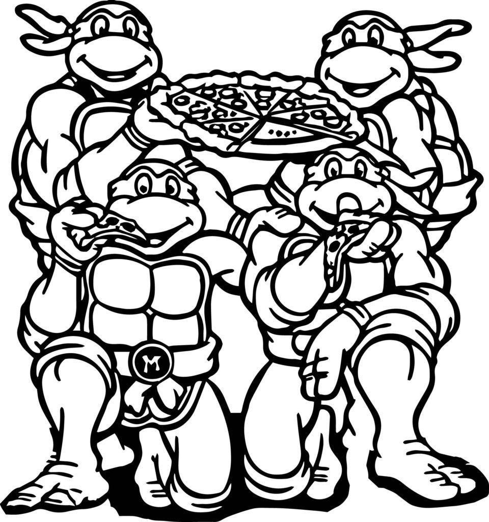 Ninja Turtles Coloring Sheet Cinebrique
