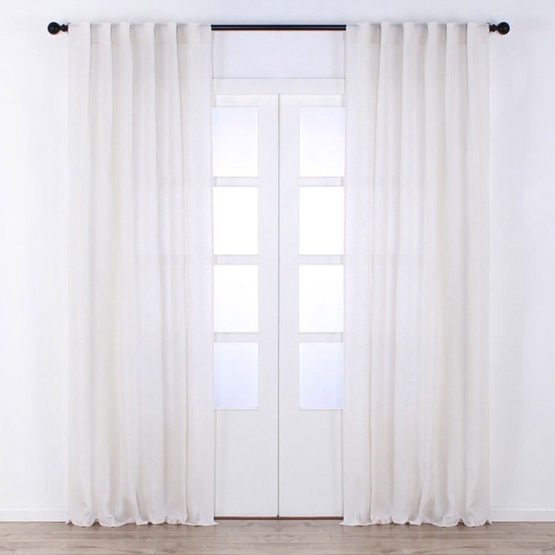 Mille Solid Linen Curtain White Curtains Window Jysk