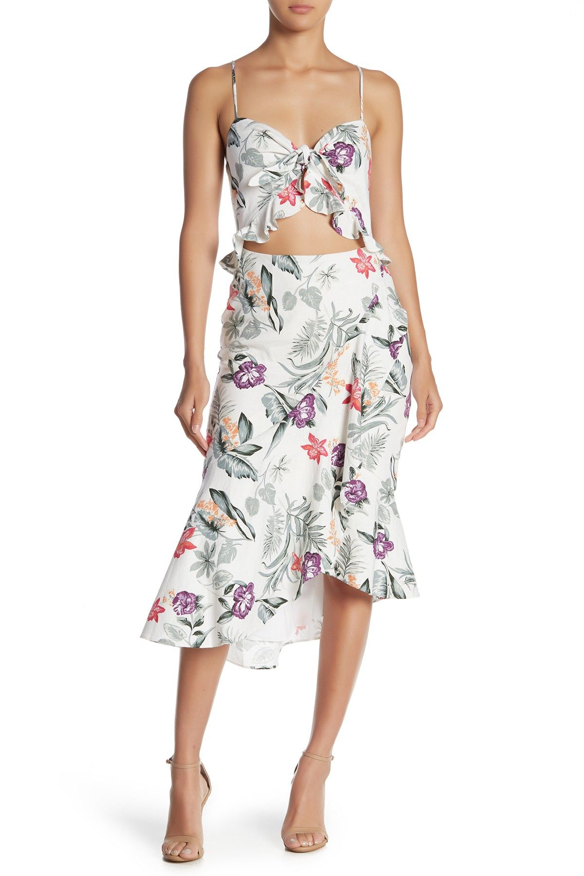 Wayf Mahari Ruffle Hem Front Knot Dress Is Now 59 Off Free Shipping On Orders Over 100 Front Knot Dress Nordstrom Dresses Dresses [ 1800 x 1200 Pixel ]