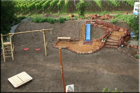 Ein Kinderspielplatz Im Garten Kinderspielplatz Kinder Garten Kinderspielplatz Und Spielplatz